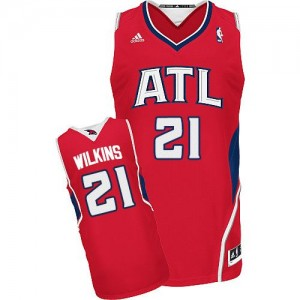 Maillot Swingman Atlanta Hawks NBA Alternate Rouge - #21 Dominique Wilkins - Homme