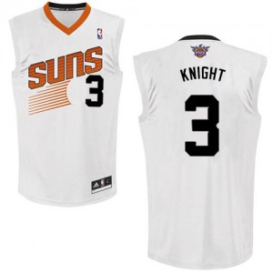 Maillot NBA Phoenix Suns #3 Brandon Knight Blanc Adidas Authentic Home - Homme