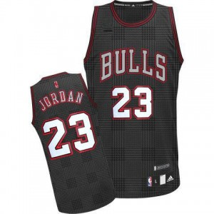Maillot Authentic Chicago Bulls NBA Rhythm Fashion Noir - #23 Michael Jordan - Homme