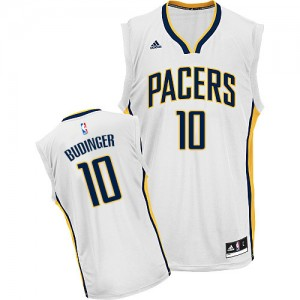 Maillot NBA Indiana Pacers #10 Chase Budinger Blanc Adidas Swingman Home - Homme