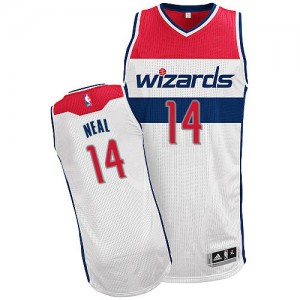 Maillot Adidas Blanc Home Authentic Washington Wizards - Gary Neal #14 - Homme