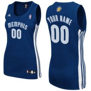 Memphis Grizzlies Personnalisé Adidas Road Bleu marin Maillot d'équipe de NBA boutique en ligne - Swingman pour Femme