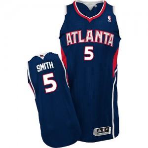 Maillot Authentic Atlanta Hawks NBA Road Bleu marin - #5 Josh Smith - Homme