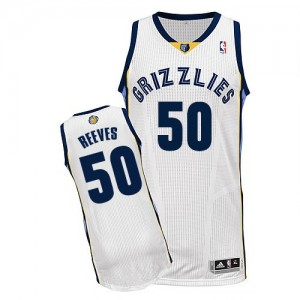 Maillot NBA Memphis Grizzlies #50 Bryant Reeves Blanc Adidas Authentic Home - Homme