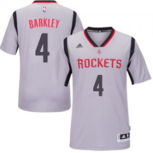 Maillot NBA Authentic Charles Barkley #4 Houston Rockets Alternate Gris - Homme