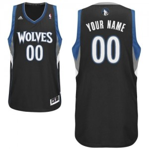 Maillot Minnesota Timberwolves NBA Alternate Noir - Personnalisé Swingman - Homme