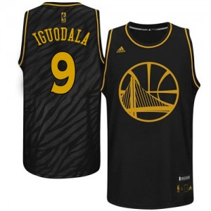 Maillot NBA Authentic Andre Iguodala #9 Golden State Warriors Precious Metals Fashion Noir - Homme