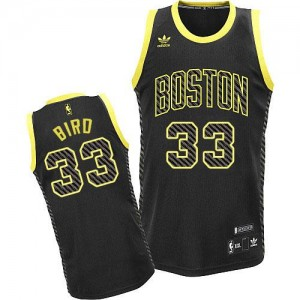 Maillot NBA Noir Larry Bird #33 Boston Celtics Electricity Fashion Swingman Homme Adidas