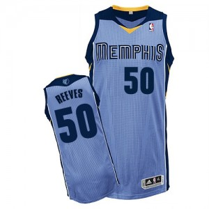 Maillot NBA Memphis Grizzlies #50 Bryant Reeves Bleu clair Adidas Authentic Alternate - Homme