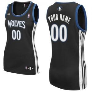 Maillot NBA Minnesota Timberwolves Personnalisé Swingman Noir Adidas Alternate - Femme