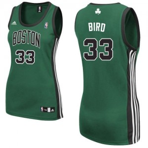 Maillot NBA Swingman Larry Bird #33 Boston Celtics Alternate Vert (No. noir) - Femme