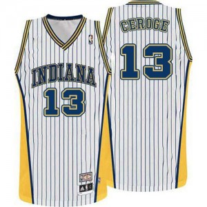 Indiana Pacers Paul George #13 Throwback Swingman Maillot d'équipe de NBA - Blanc pour Homme