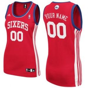 Philadelphia 76ers Swingman Personnalisé Road Maillot d'équipe de NBA - Rouge pour Femme