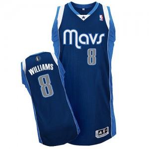 Maillot NBA Dallas Mavericks #8 Deron Williams Bleu marin Adidas Authentic Alternate - Femme