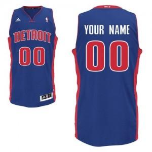 Maillot Adidas Bleu royal Road Detroit Pistons - Swingman Personnalisé - Homme