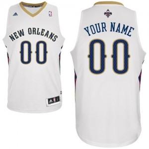 Maillot NBA Blanc Swingman Personnalisé New Orleans Pelicans Home Femme Adidas