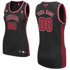 Maillot NBA Chicago Bulls Personnalisé Swingman Noir Adidas Alternate - Femme