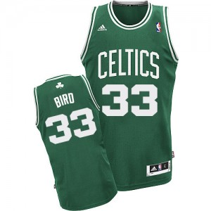 Maillot Swingman Boston Celtics NBA Road Vert (No Blanc) - #33 Larry Bird - Homme