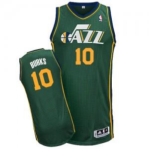 Utah Jazz Alec Burks #10 Alternate Authentic Maillot d'équipe de NBA - Vert pour Homme
