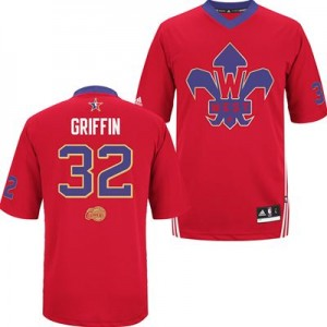 Maillot NBA Authentic Blake Griffin #32 Los Angeles Clippers 2014 All Star Rouge - Homme