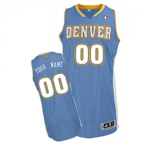 Maillot NBA Denver Nuggets Personnalisé Authentic Bleu clair Adidas Road - Enfants
