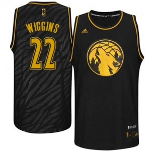 Maillot NBA Authentic Andrew Wiggins #22 Minnesota Timberwolves Precious Metals Fashion Noir - Homme