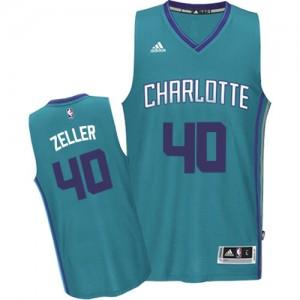 Charlotte Hornets #40 Adidas Road Bleu clair Authentic Maillot d'équipe de NBA en ligne - Cody Zeller pour Homme