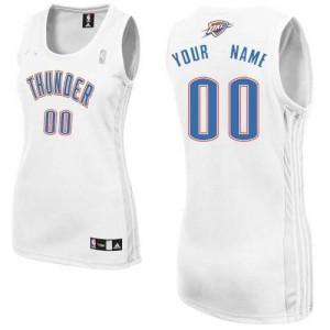 Oklahoma City Thunder Authentic Personnalisé Home Maillot d'équipe de NBA - Blanc pour Femme