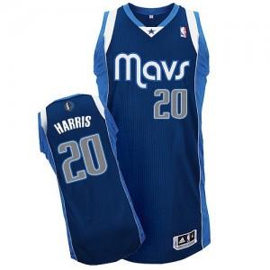 Dallas Mavericks #20 Adidas Alternate Bleu marin Authentic Maillot d'équipe de NBA Promotions - Devin Harris pour Homme