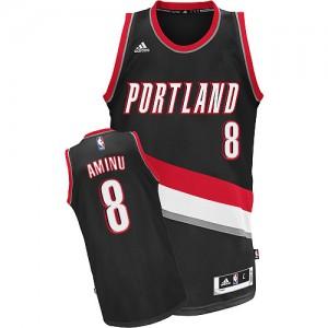Portland Trail Blazers Al-Farouq Aminu #8 Road Swingman Maillot d'équipe de NBA - Noir pour Homme