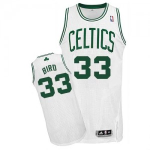 Boston Celtics #33 Adidas Home Blanc Authentic Maillot d'équipe de NBA Prix d'usine - Larry Bird pour Enfants
