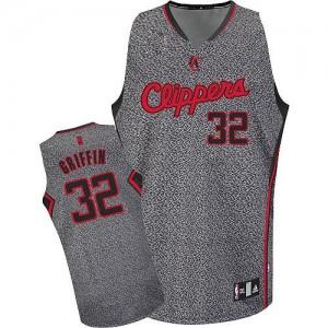 Los Angeles Clippers #32 Adidas Static Fashion Gris Authentic Maillot d'équipe de NBA en ligne pas chers - Blake Griffin pour Homme