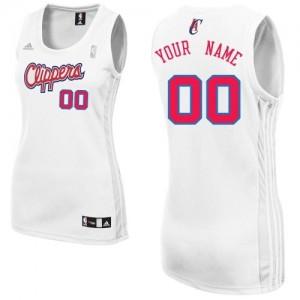 Maillot Los Angeles Clippers NBA Home Blanc - Personnalisé Swingman - Femme