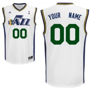 Maillot NBA Utah Jazz Personnalisé Swingman Blanc Adidas Home - Homme