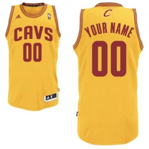 Maillot NBA Or Swingman Personnalisé Cleveland Cavaliers Alternate Homme Adidas