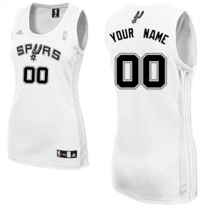 Maillot Adidas Blanc Home San Antonio Spurs - Swingman Personnalisé - Femme