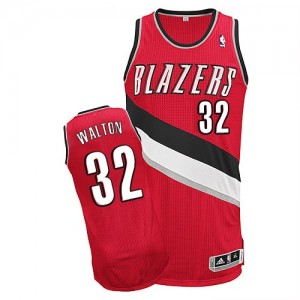 Maillot NBA Authentic Bill Walton #32 Portland Trail Blazers Alternate Rouge - Homme