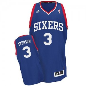 Maillot Swingman Philadelphia 76ers NBA Alternate Bleu royal - #3 Allen Iverson - Homme