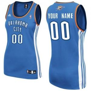 Oklahoma City Thunder Personnalisé Adidas Road Bleu royal Maillot d'équipe de NBA Prix d'usine - Swingman pour Femme