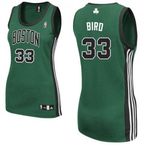 Boston Celtics #33 Adidas Alternate Vert (No. noir) Authentic Maillot d'équipe de NBA magasin d'usine - Larry Bird pour Femme