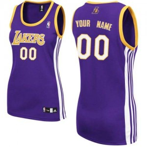 Maillot NBA Authentic Personnalisé Los Angeles Lakers Road Violet - Femme