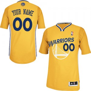 Maillot NBA Golden State Warriors Personnalisé Authentic Or Adidas Alternate - Enfants