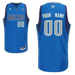 Maillot NBA Bleu royal Swingman Personnalisé Dallas Mavericks Road Homme Adidas
