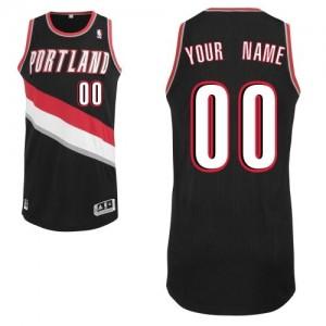 Portland Trail Blazers Authentic Personnalisé Road Maillot d'équipe de NBA - Noir pour Homme