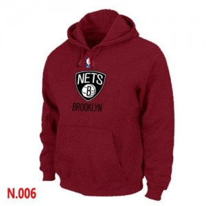 Sweat à capuche NBA Brooklyn Nets Rouge - Homme