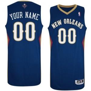 Maillot New Orleans Pelicans NBA Road Bleu marin - Personnalisé Authentic - Homme