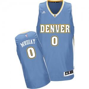 Denver Nuggets Emmanuel Mudiay #0 Road Swingman Maillot d'équipe de NBA - Bleu clair pour Homme