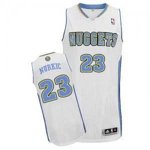 Denver Nuggets Jusuf Nurkic #23 Home Authentic Maillot d'équipe de NBA - Blanc pour Homme