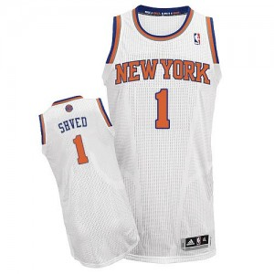 Maillot NBA Authentic Alexey Shved #1 New York Knicks Home Blanc - Homme