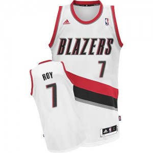 Maillot NBA Swingman Brandon Roy #7 Portland Trail Blazers Home Blanc - Homme